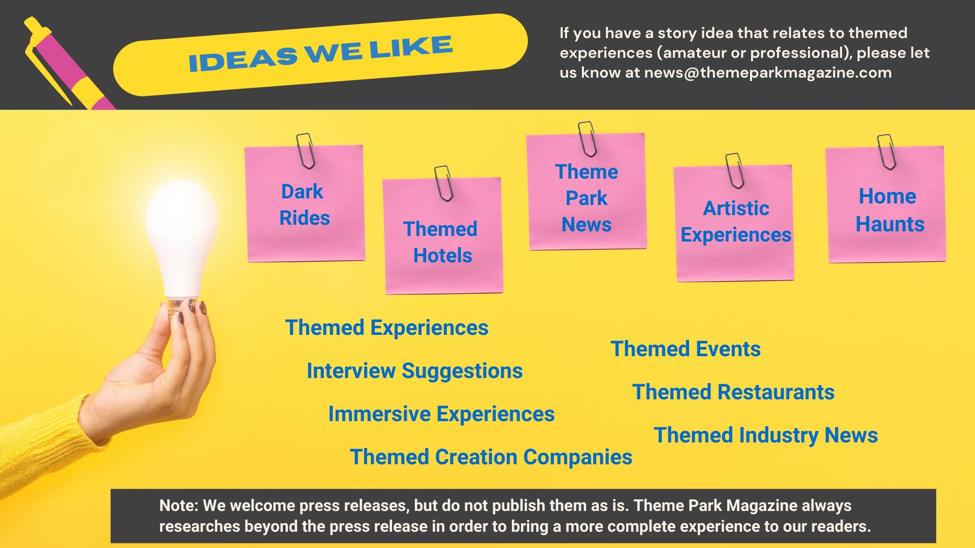 Submit Theme Park News